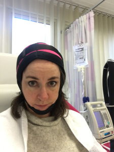 Having breast cancer treatment – with the cold cap!